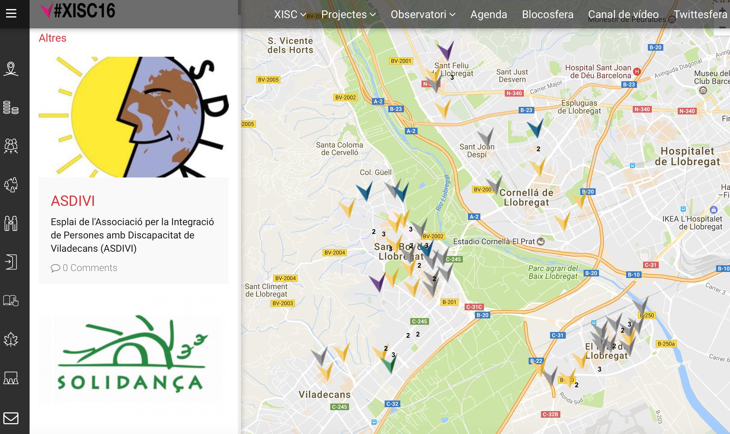 Captura Del Mapa D'agents D'innovació Elaborat Amb La XISC
