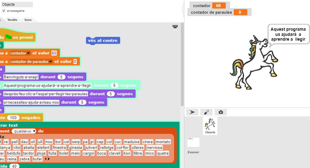 Projecte EduLab - Activitat De Velocitat Lectora