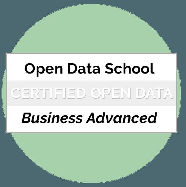 Open Data Certificat Business Advanced