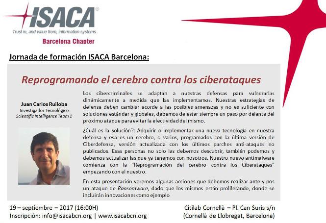 Jornada ciberatacs ISACA Barcelona Citilab