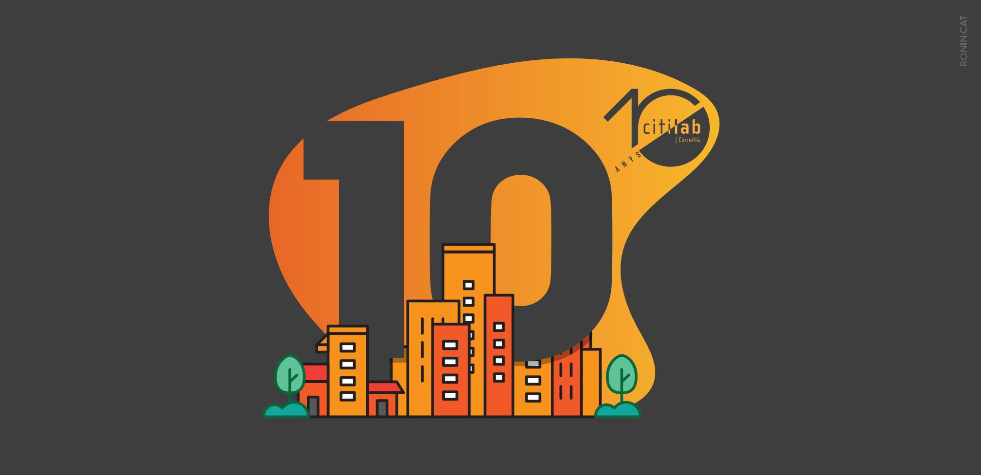 10 Anys Citilab Logo Tríptic