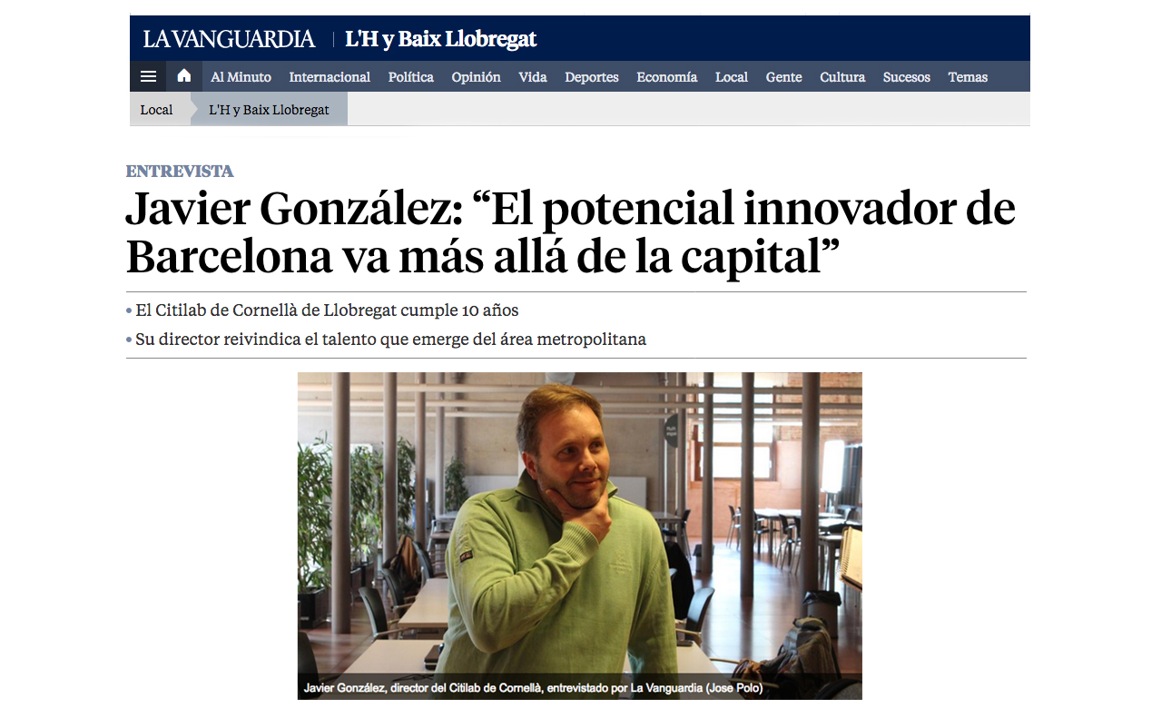 Entrevista Javier González La Vanguardia