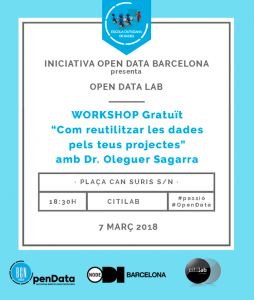 Workshop gratuït OpenDataLab 2018