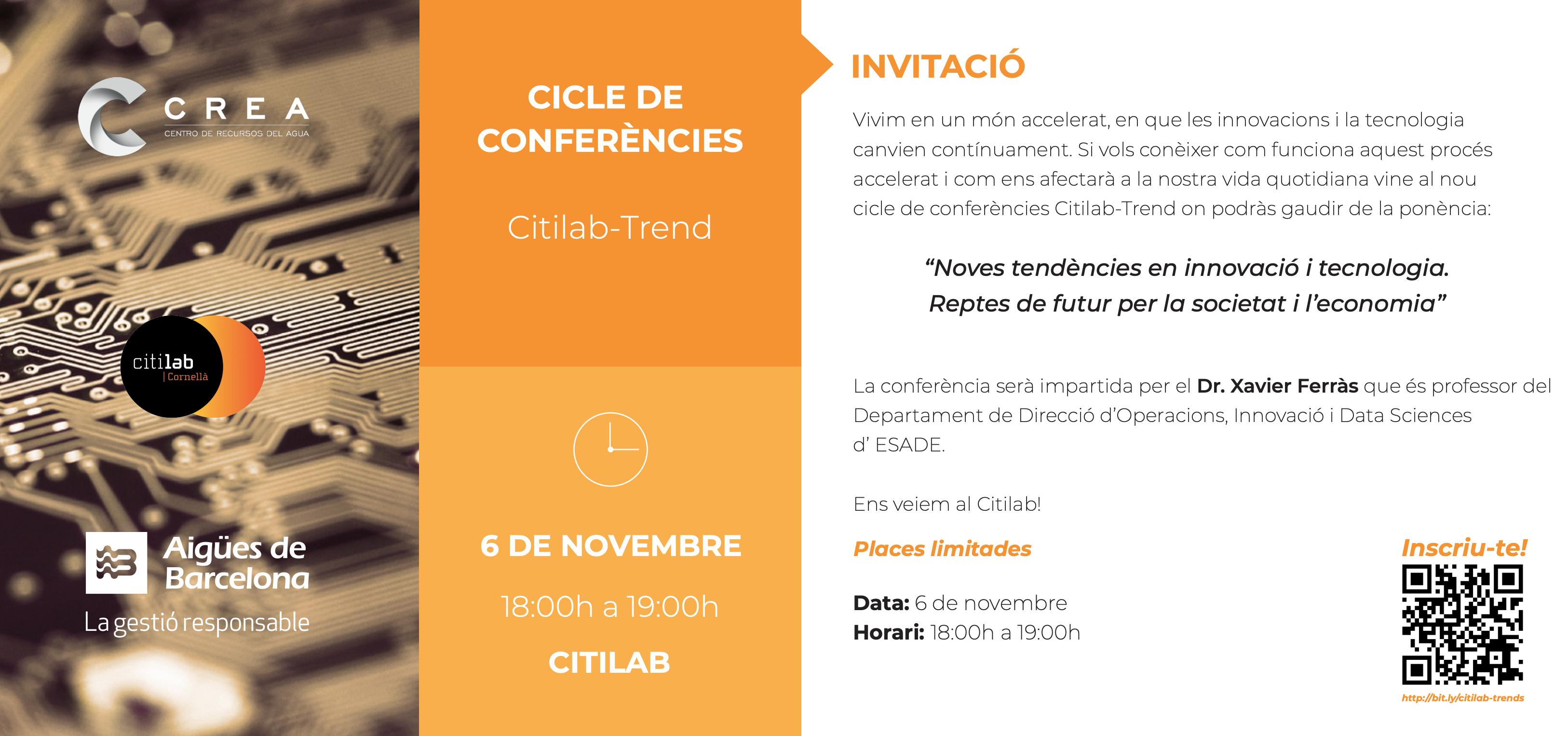 Citilab-Trend: conferència Xavier Ferràs