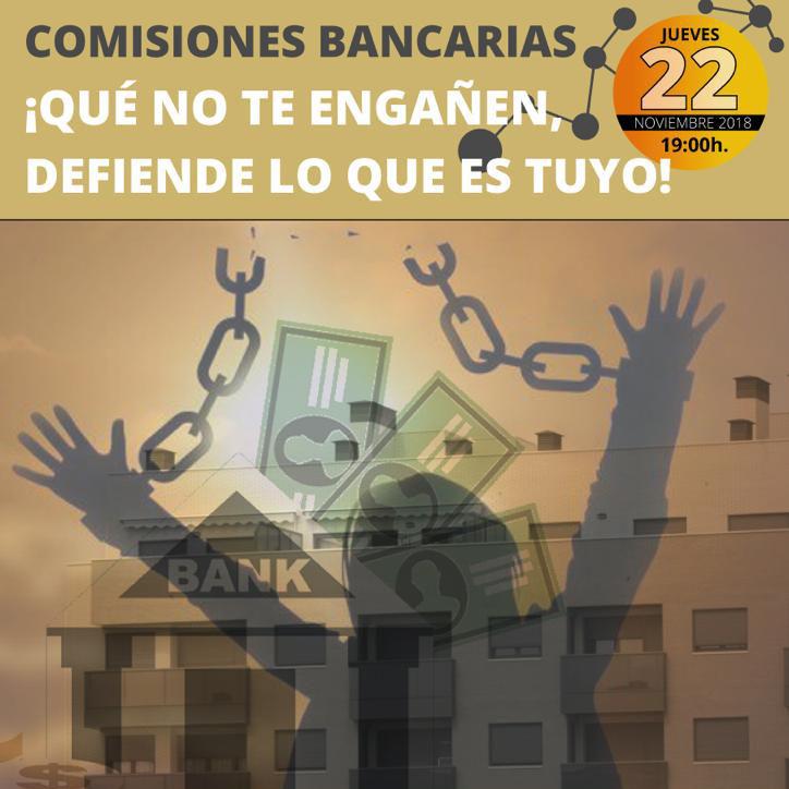 Cartell Comissions bancàries