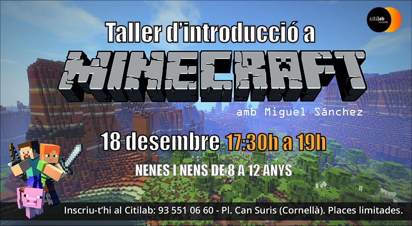 Vine Al Citilab A Gaudir Del Taller D'introducció A Minecraft!