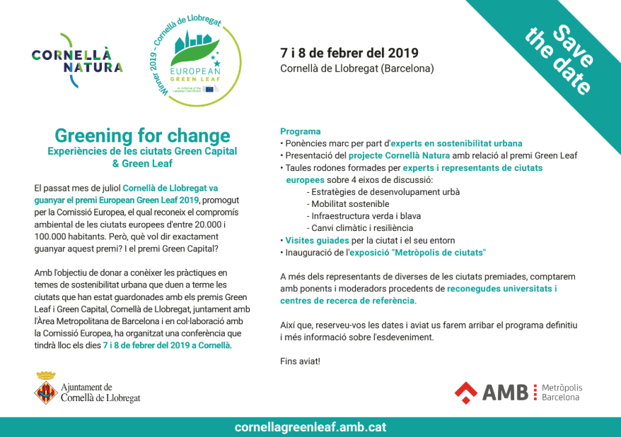 Greening for Change. Cornellà Green Leaf 2019.