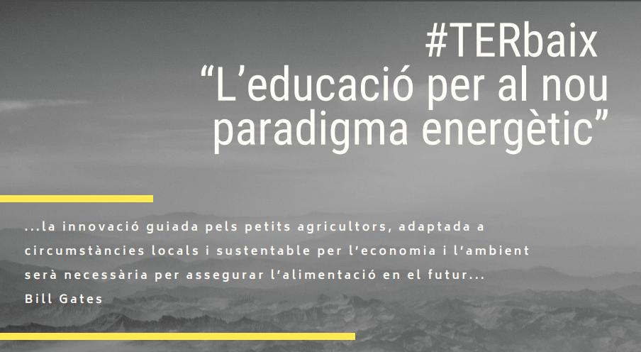 TERbaix: jornada sobre el paper de l'educació per al nou paradigma energètic