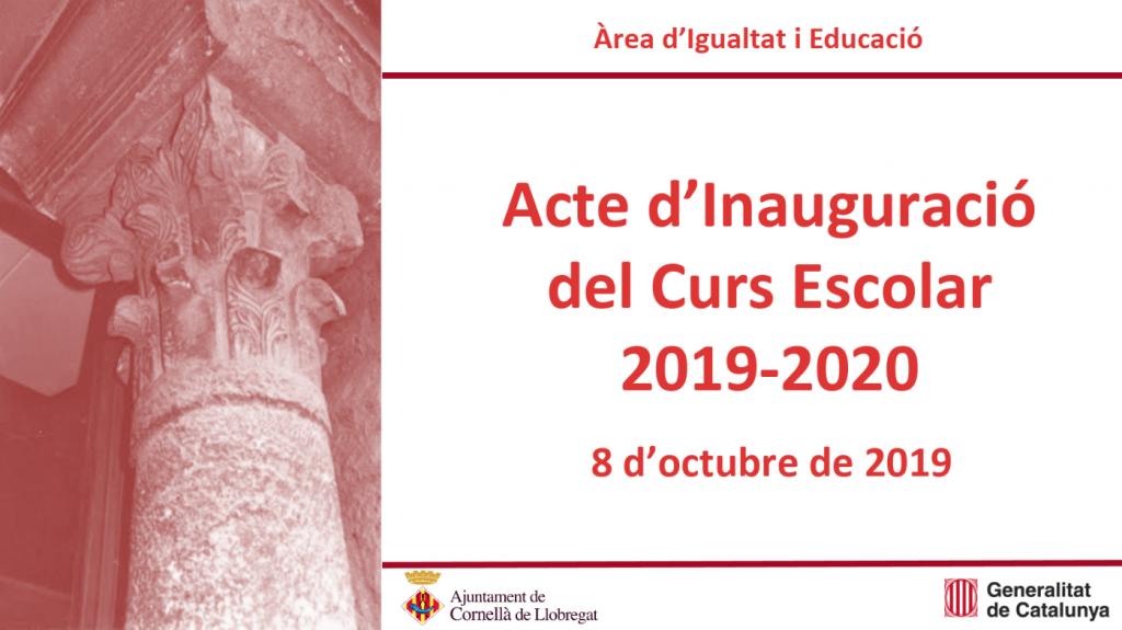 Acte Inauguració Curs Escolar 2019 - 2020