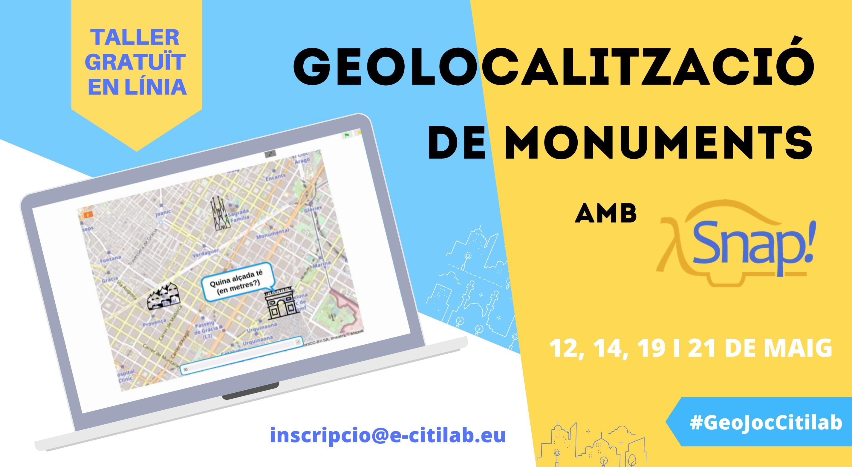 Arriba El Nou Taller En Línia Del Citilab: Programem Amb Snap! Un Joc De Geolocalització De Monuments Modernistes
