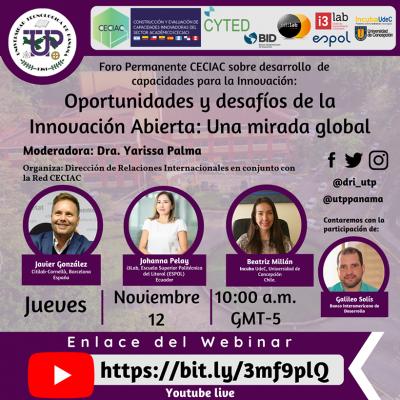Webinar - Foro Permanente CECIAC 'Oportunidades y desafíos de la Innovación Abierta: Una mirada global' 2020