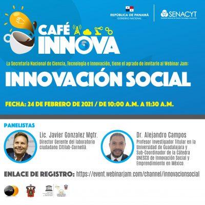 Webinar Jam febrero 2021 - Café Innova. Innovación social.